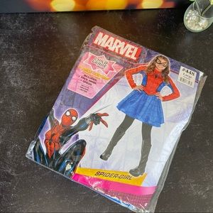 Spidergirl 4 pc Costume Set Sz L 12-14